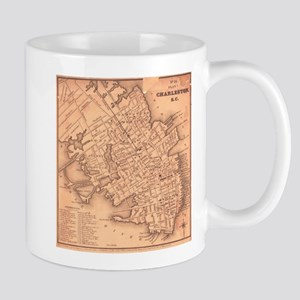 Vintage Map of Charleston South Carolina (184 Mugs